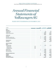 Financial Study on Financial Statements of Volkswagen AG