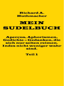 Mein Sudelbuch, Teil 1: Aperçus, Aphorismen, Gedichte – Gedanken, die sich nur selten reimen. Indes nicht weniger wahr sind.