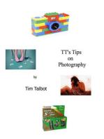 TT's Tips on Photography