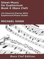 Sheet Music for Euphonium - Book 4 (Bass Clef)