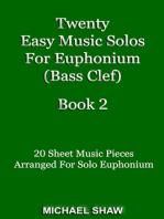 Twenty Easy Music Solos For Euphonium (Bass Clef) Book 2