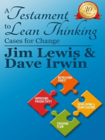 A Testiment to Lean Thinking