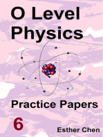 O level Physics Practice Papers 6