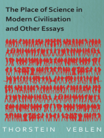 The Place of Science in Modern Civilisation and Other Essays
