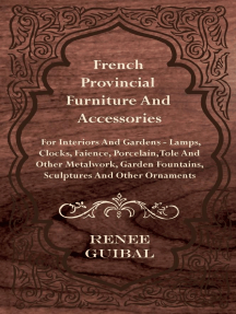 French Provincial Furniture And Accessories - For Interiors And Gardens - Lamps, Clocks, Faience, Porcelain, Tole And Other Metalwork, Garden Fountains, Sculptures And Other Ornaments