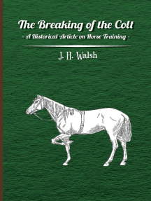 The Breaking of the Colt - A Historical Article on Horse Training