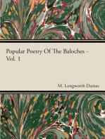 Popular Poetry Of The Baloches - Vol 1