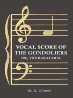 Vocal Score of the Gondoliers - Or, the Barataria