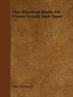 The Physical Basis Of Piano Touch And Tone