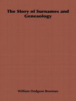 The Story of Surnames and Geneaology