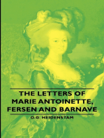 The Letters of Marie Antoinette, Fersen and Barnave