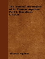 The 'Summa Theologica' of St. Thomas Aquinas: Part 1, Questions L-LXXIV