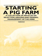 Starting a Pig Farm - A Collection of Articles on Selection, Grazing and General Management of the Herd