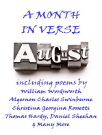 August, A Month In Verse