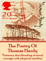 Thomas Hardy, The Poetry Of