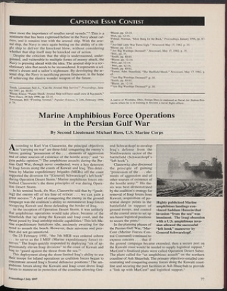 marine amphibious force operations in the persian gulf war u s marine amphibious force operations in the persian gulf war u s naval institute