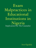 Examination Malpractices In Nigeria