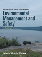 Supplemental Guide for Studies In Environmental Management and Safety