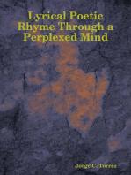 Lyrical Poetic Rhyme Through a Perplexed Mind