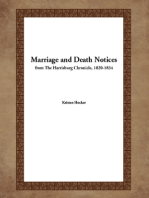 Marriage and Death Notices from the Harrisburg Chronicle, 1820-1834