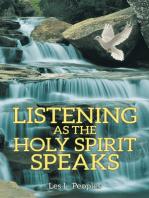 Listening as the Holy Spirit Speaks
