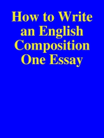 How to Write an English Composition One Essay