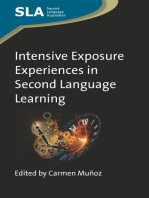 Intensive Exposure Experiences in Second Language Learning