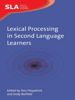 Lexical Processing in Second Language Learners: Papers and Perspectives in Honour of Paul Meara