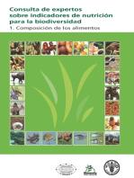 Consulta de expertos sobre indicadores de nutrición para la biodiversidad