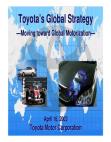 TOYOTA'S GLOBAL STRATEGY
