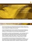 PANTALOON RETAIL (INDIA) LIMITED