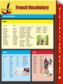 French Vocabulary: French Vocabulary Guide