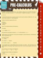 Pre-Calculus: Speedy Study Guide
