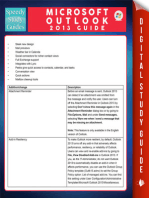 Microsoft Outlook 2013 Guide (Speedy Study Guides)