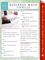 Business Math Formulas (Speedy Study Guides)