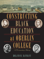 Constructing Black Education at Oberlin College
