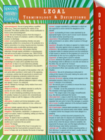 Legal Terminology and Definitions (Speedy Study Guide)