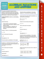 Algebraic Equations And Answers (Speedy Study Guides)