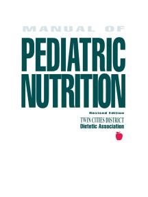 Manual of Pediatric Nutrition