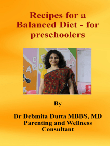 Recipes for a Balanced Diet: for preschoolers