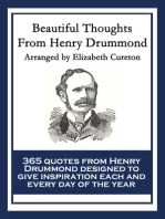 Beautiful Thoughts From Henry Drummond