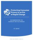 Project Study on Protecting Consumer Privacy