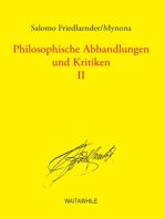 Philosophische Abhandlungen und Kritiken 2