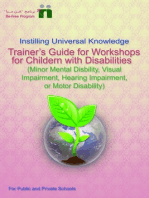 Trainer's Guide for Workshops for Children with Disabilities (Minor mental disability, motor disability, hearing impairment, or visual impairment)