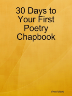 30 Days to Your First Poetry Chapbook
