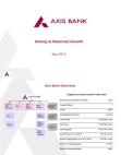 AXIS BANK Aiming at Balanced Growth