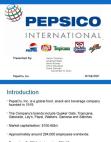 PepsiCo, Inc-CASE STUDY