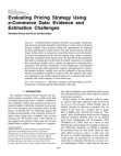 Evaluating Pricing Strategy Using e-Commerce Data: Evidence and Estimation Challenges