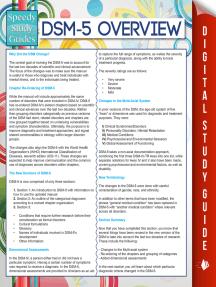 DSM-5 Overview (Speedy Study Guides)