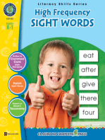 High Frequency Sight Words Gr. PK-2